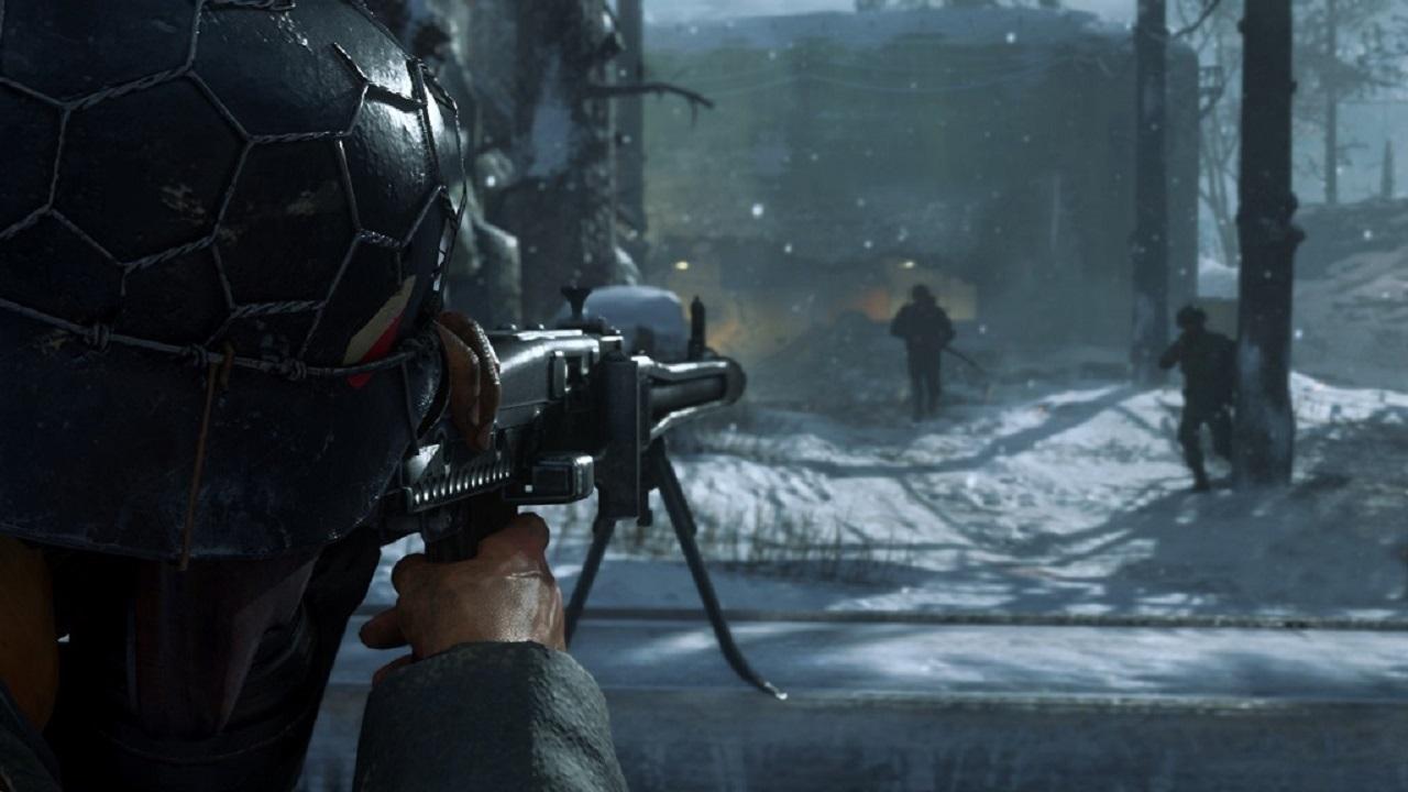 Call of Duty WW2; machinegun