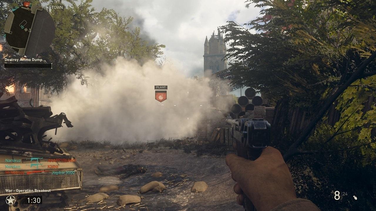 Call of Duty WW2; mutliplayer, přesun k bodu