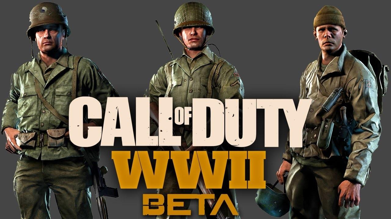 Call of Duty: WWII vojáci beta