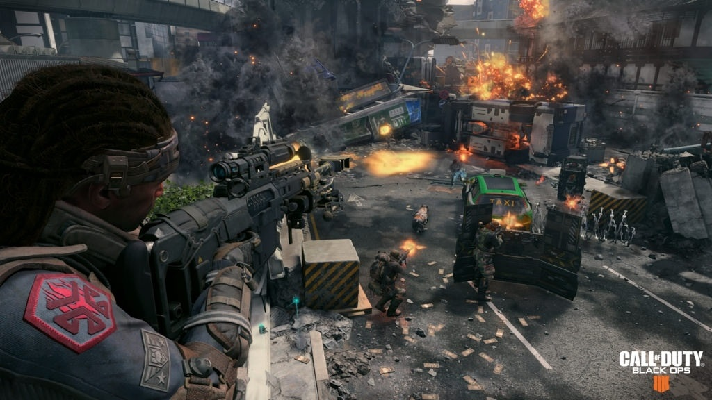 Call of Duty: Black Ops 4; screenshot: přestřelka