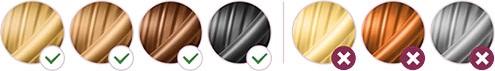 Vhodné barvy chloupků pro IPL epilátor