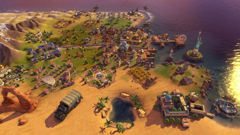 Civilization VI: Rise and Fall, map, golden age, wonders
