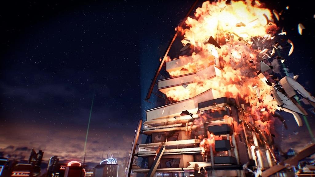 Xbox Two project Scarlett; screenshot: Crackdown 3, destrukce