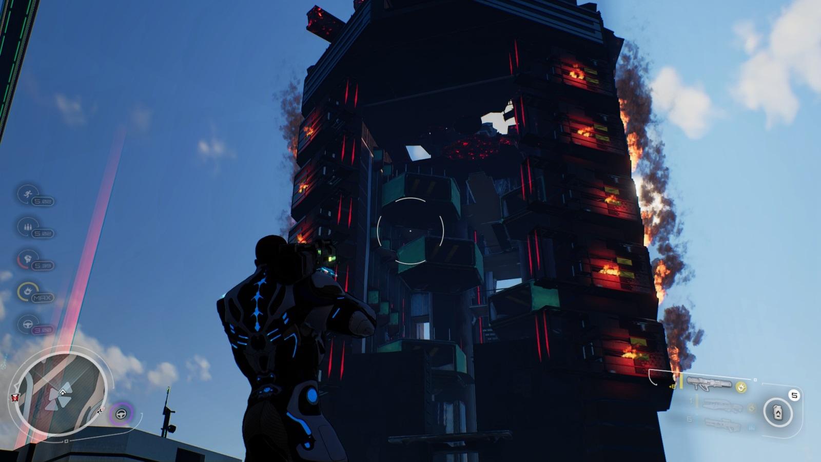 Crackdown 3; gameplay: oheň