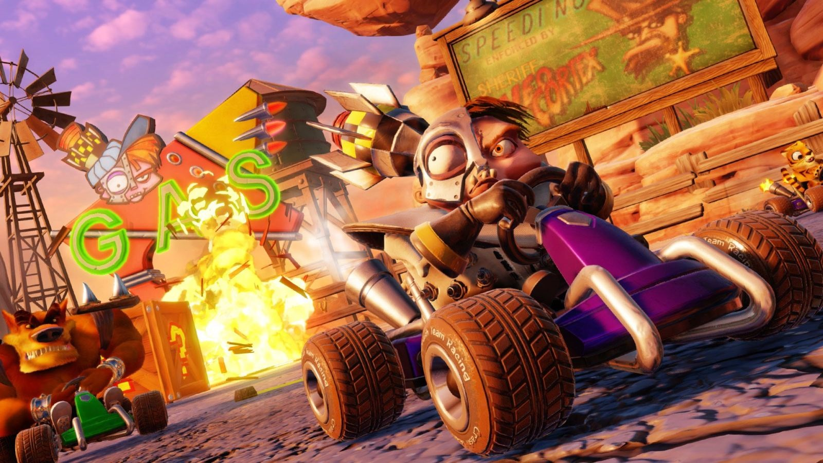 Crash Team Racing Nitro-Fueled; wallpaper: boss