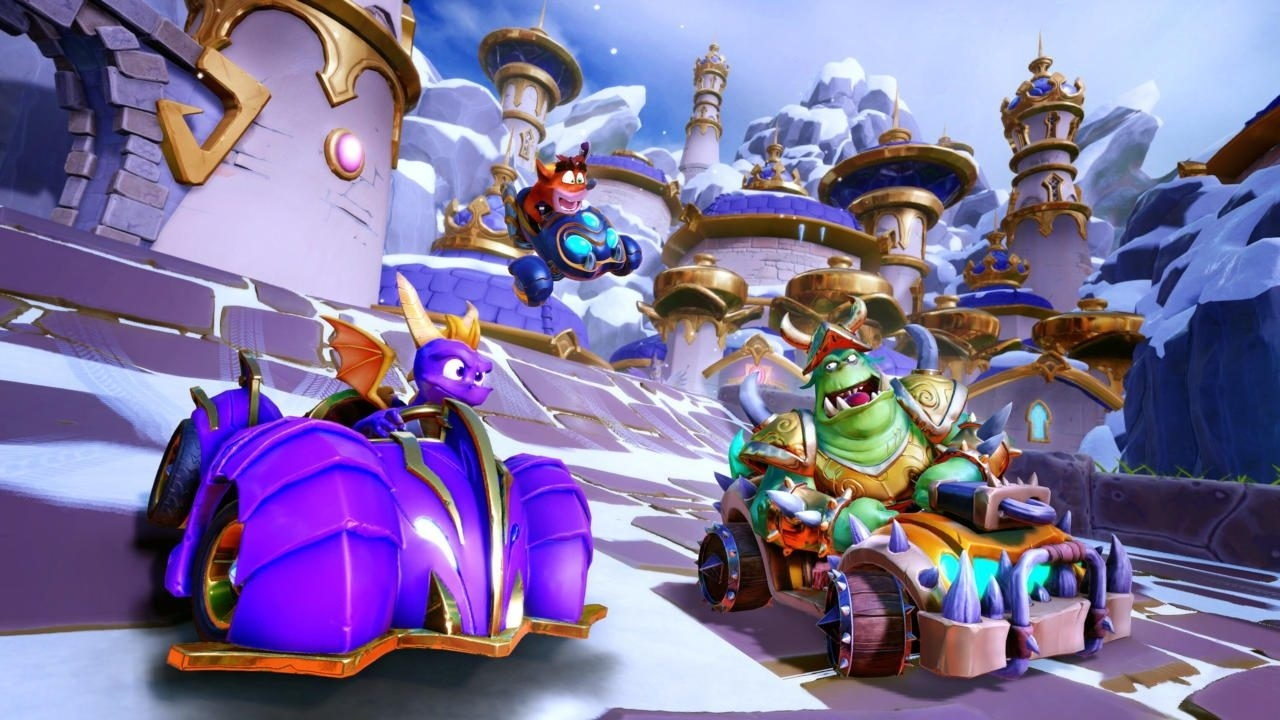 Crash Team Racing Nitro-Fueled; screenshot: Spyro