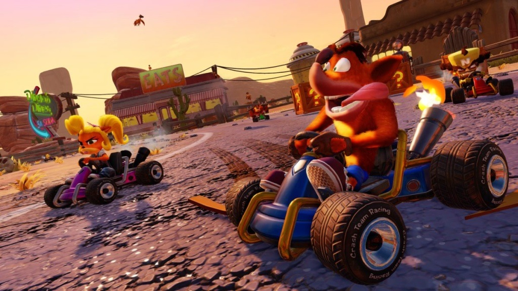 Crash Team Racing Nitro-Fueled; screenshot: závod