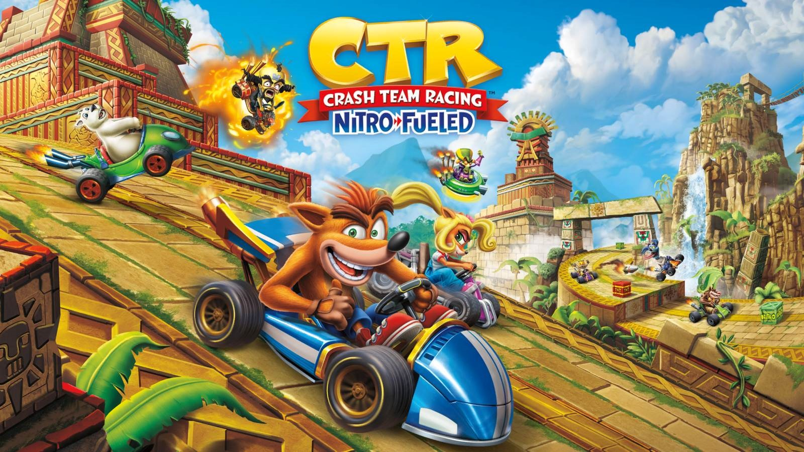 Crash Team Racing Nitro-Fueled; wallpaper: cover