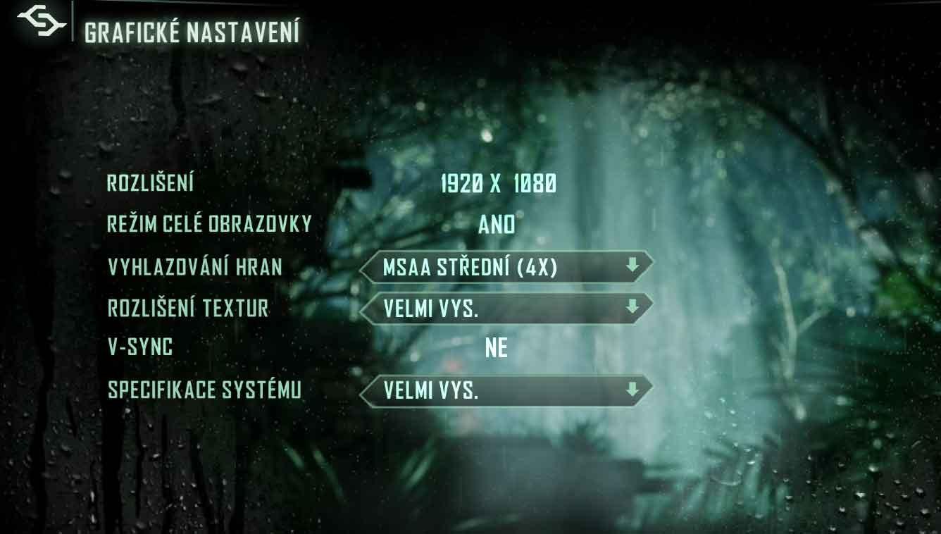 Crysis 3 nastavení grafiky