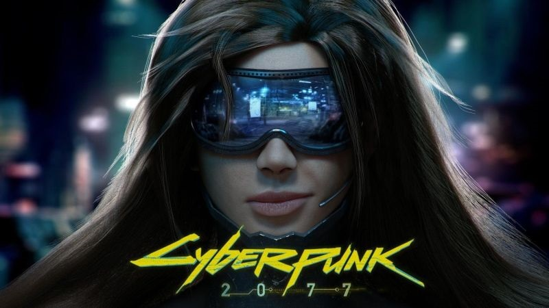 Cyberpunk 2077; wallpaper: cover, logo