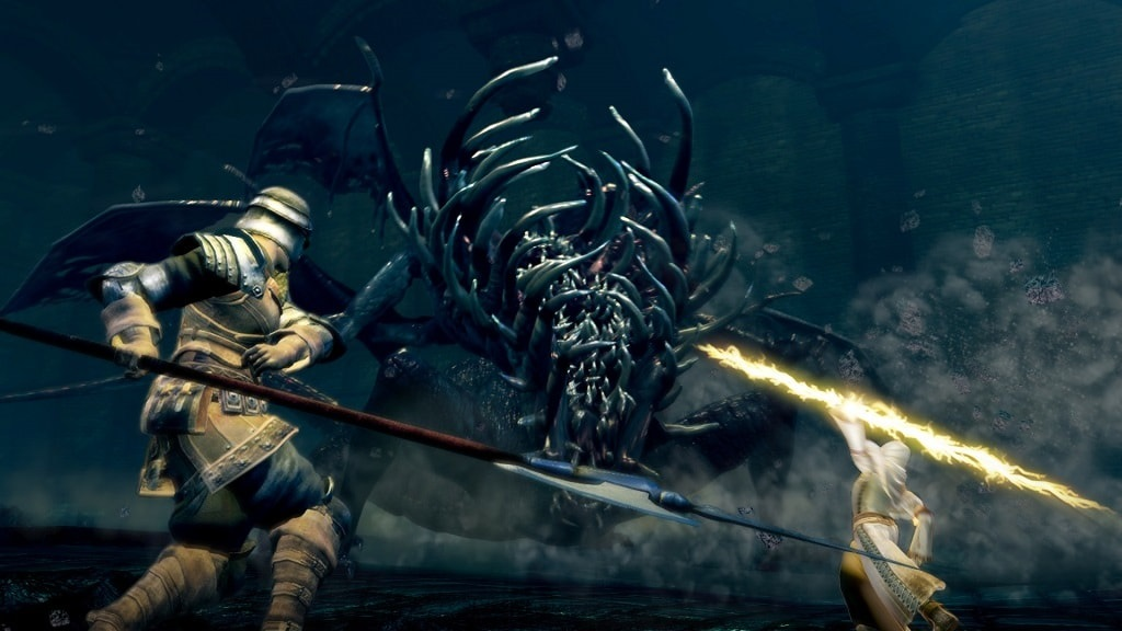 Dark Souls Remastered; gameplay, boss fight, multiplayer