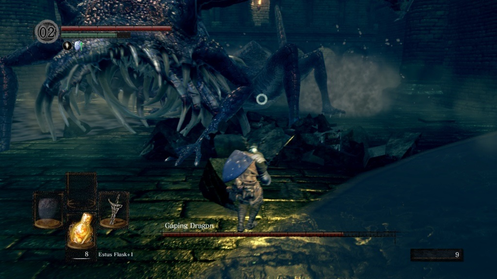 Dark Souls: Remastered; gameplay: dragon