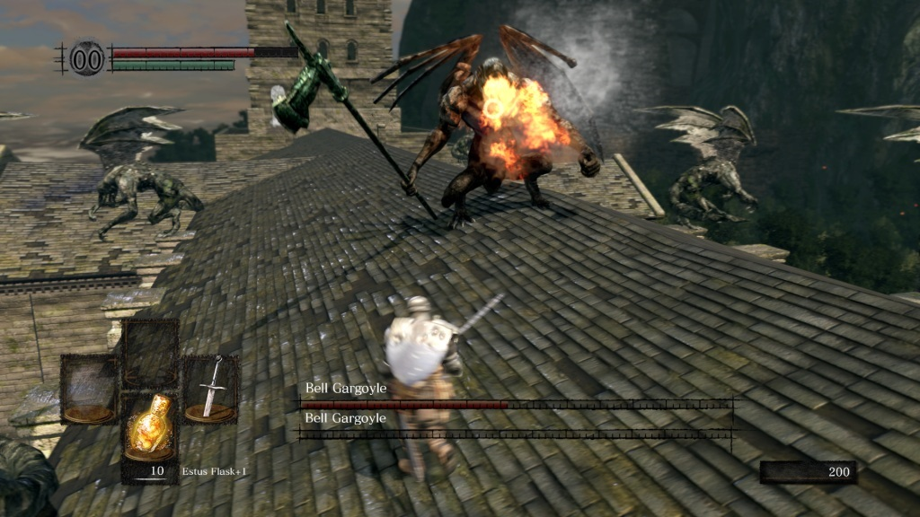 Dark Souls: Remastered; gameplay: gargoyle