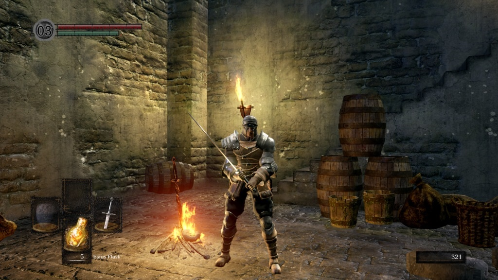 Dark Souls: Remastered; gameplay: plamen