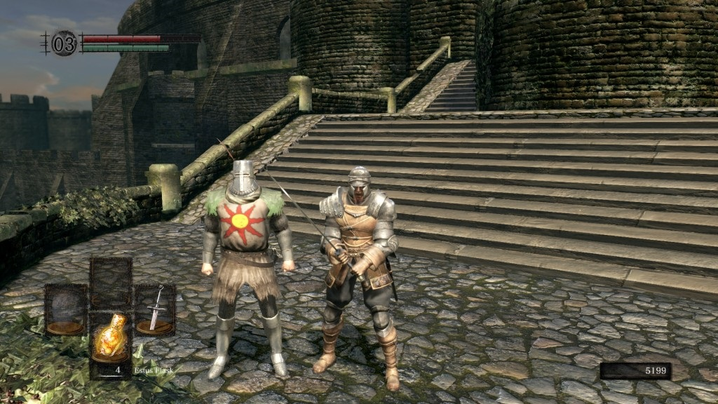Dark Souls: Remastered; gameplay: solaire