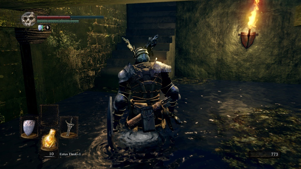 Dark Souls: Remastered; gameplay: voda