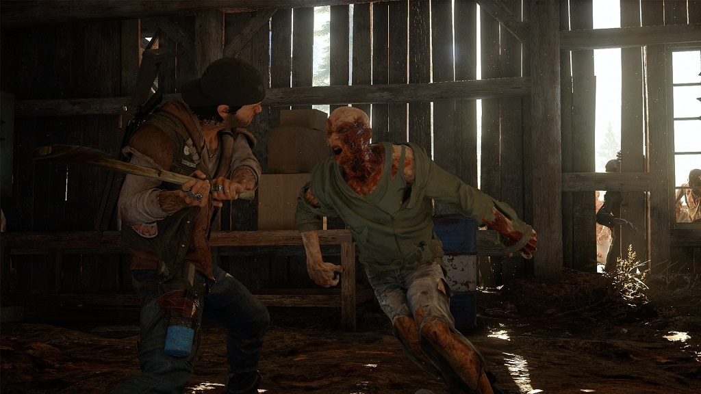 Days Gone; Deacon, Baseball bat, zombie