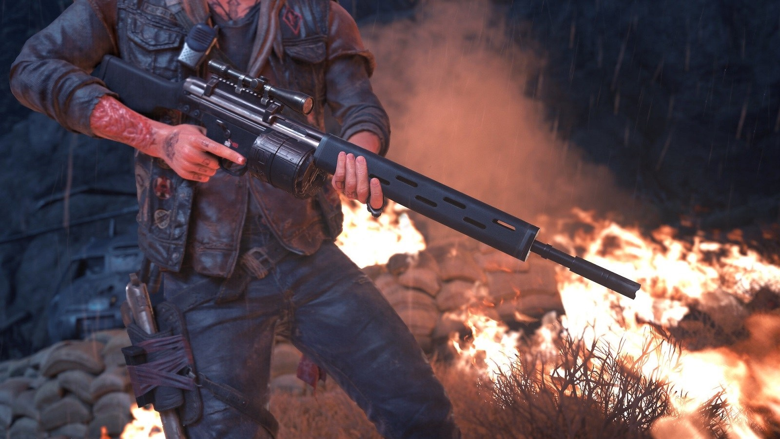 Days Gone; screenshot: zbraň