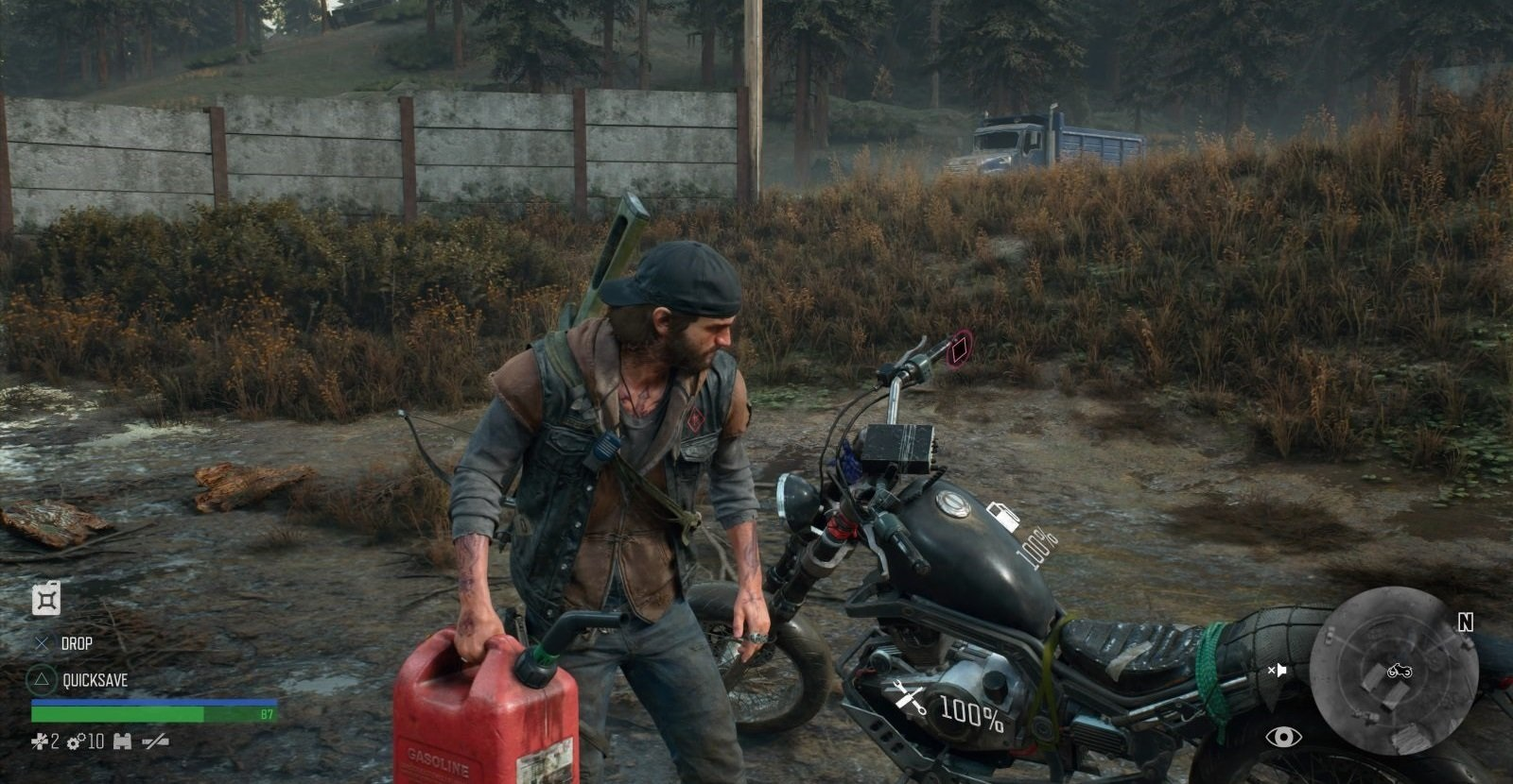 Days Gone; gameplay: benzín