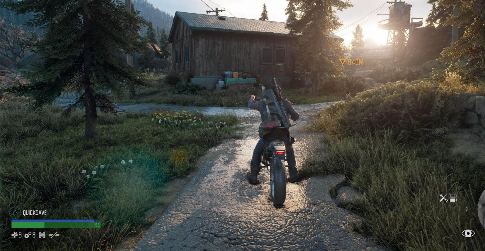 Days Gone; gameplay: motorka