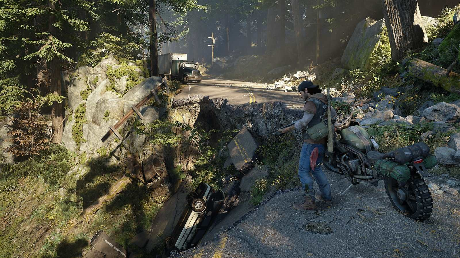 Days Gone; screenshot: silnice
