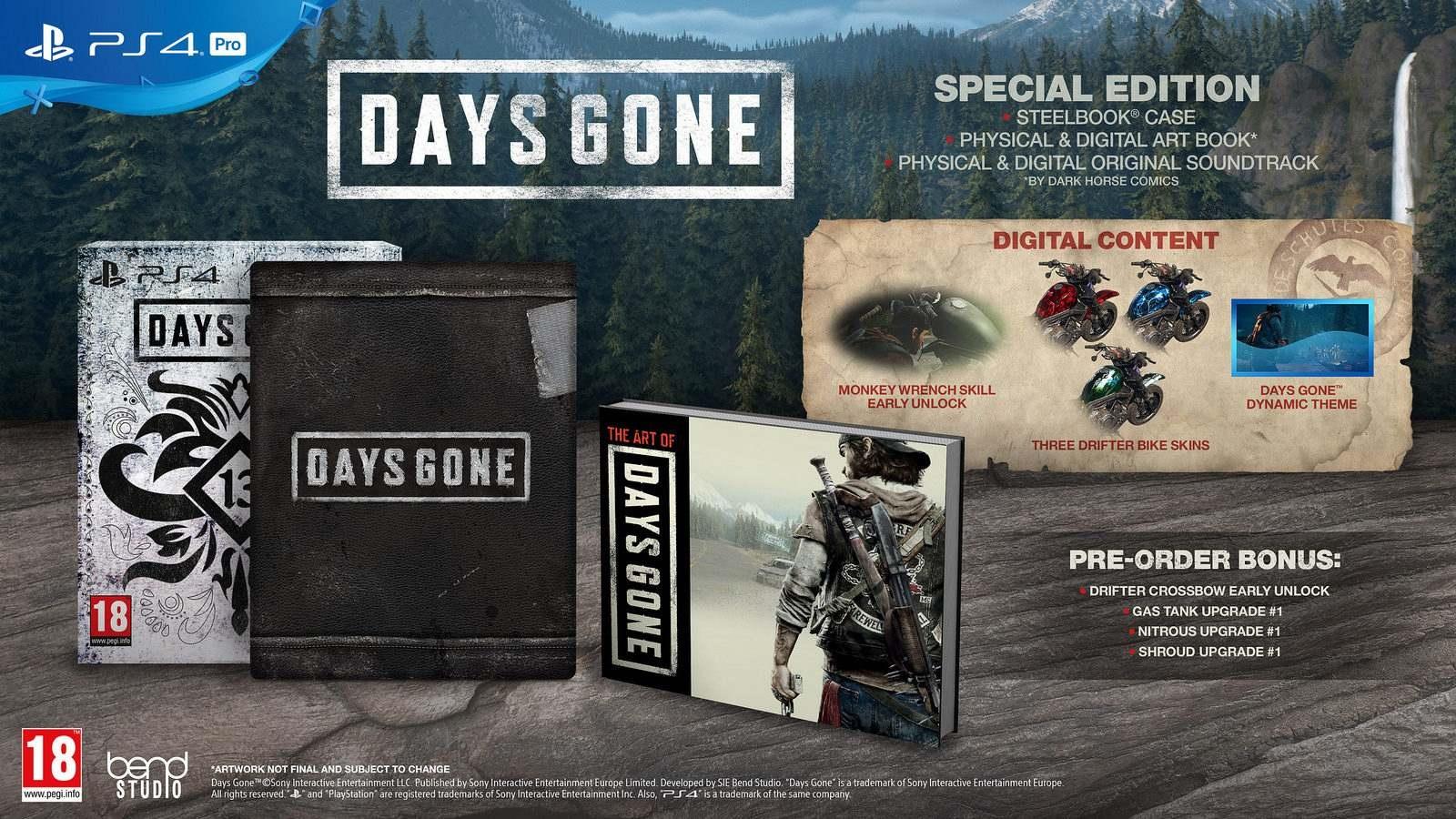 Days Gone; speciální edice