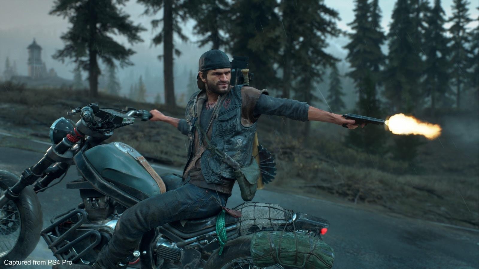 Days Gone; screenshot: střelba za jízdy