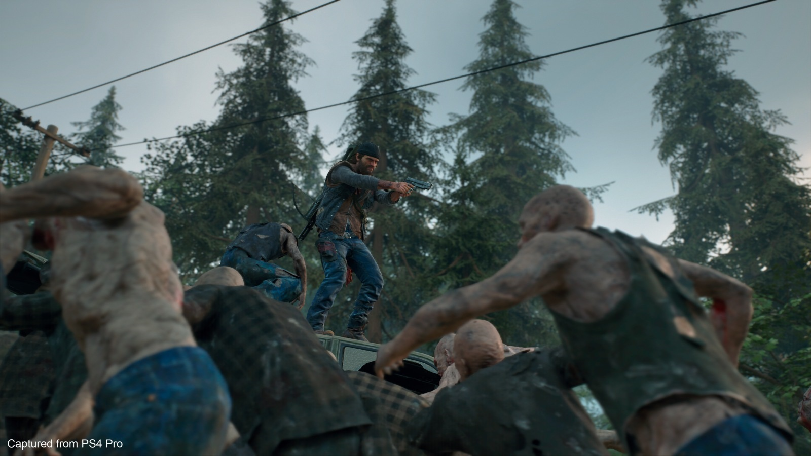 Days Gone; screenshot: zombie