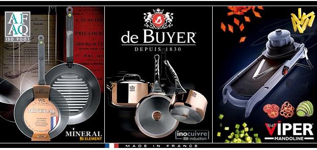 Exkluzivní nádobí a kuchyňské potřeby de Buyer
