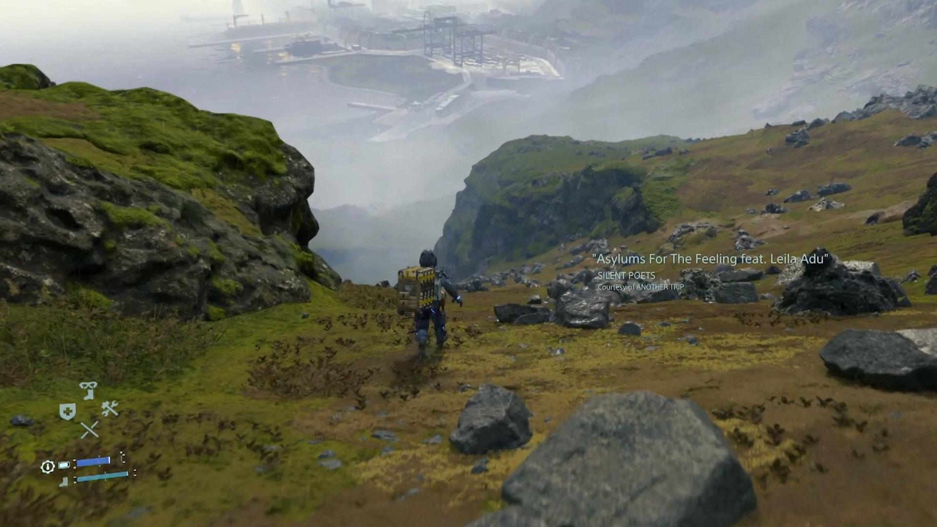 Death Stranding; gameplay: krajina