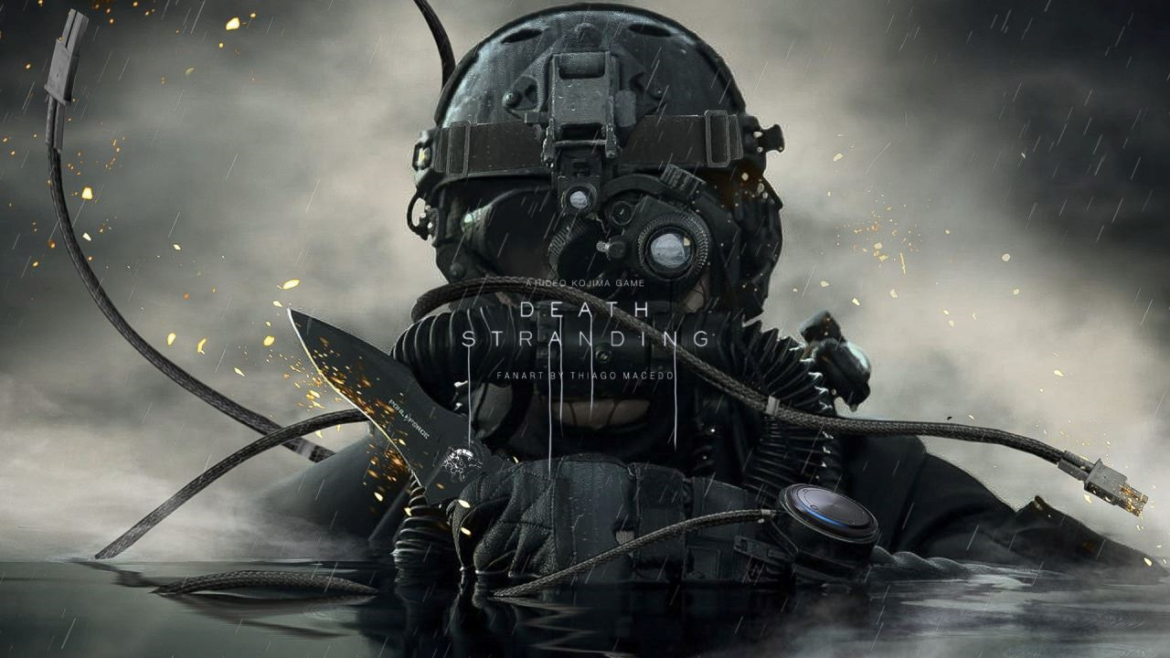 Death Stranding; Wallpaper: soldier, water