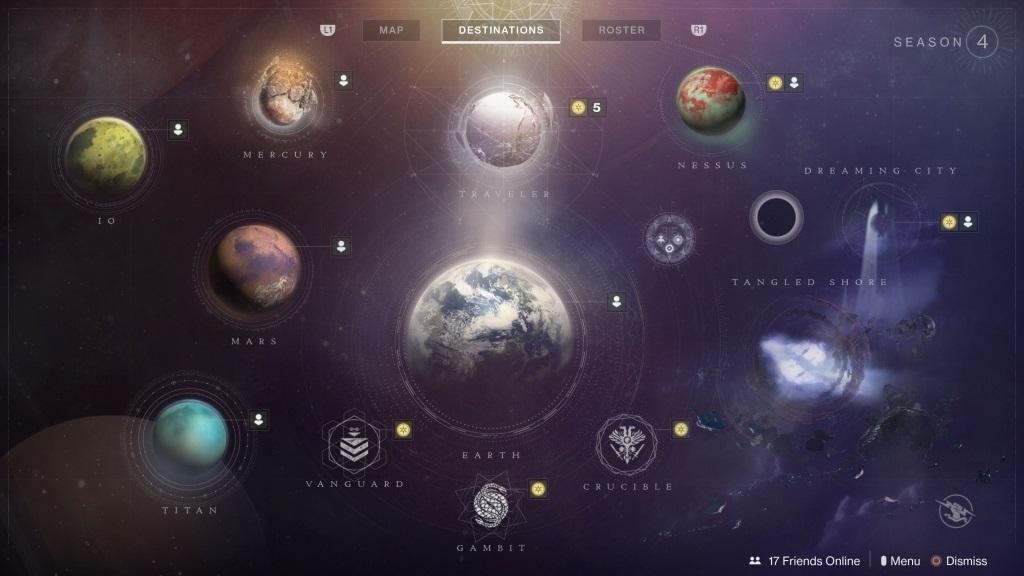 Nejlepší hry; Destiny 2: Forsaken; screenshot: denní a týdenní výzvy