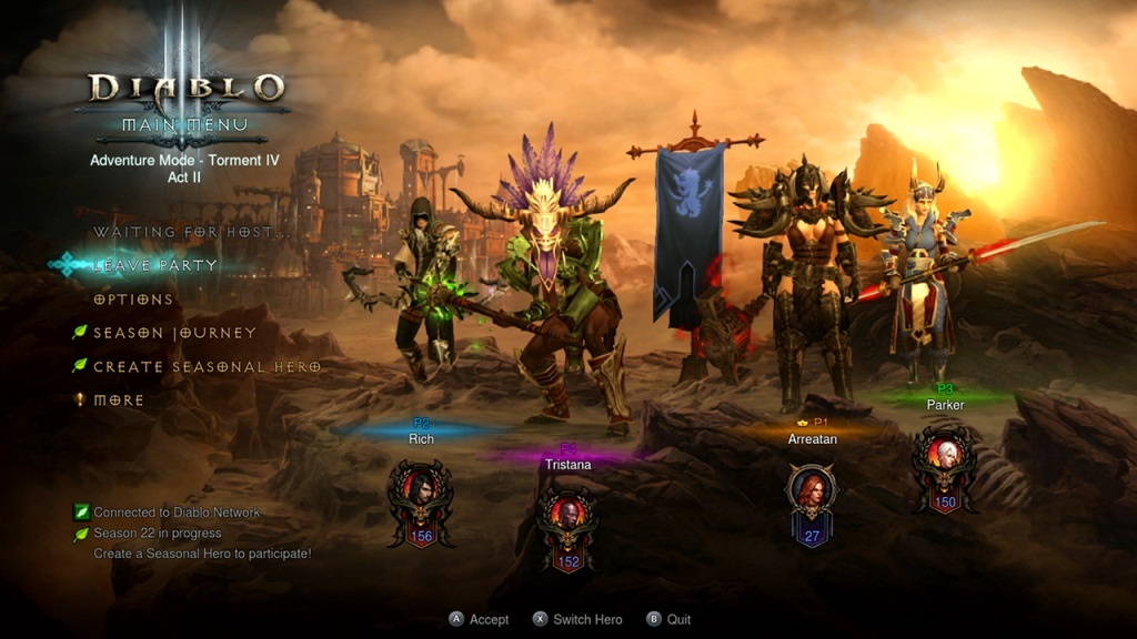 Diablo 3 Switch; gameplay: kooperace