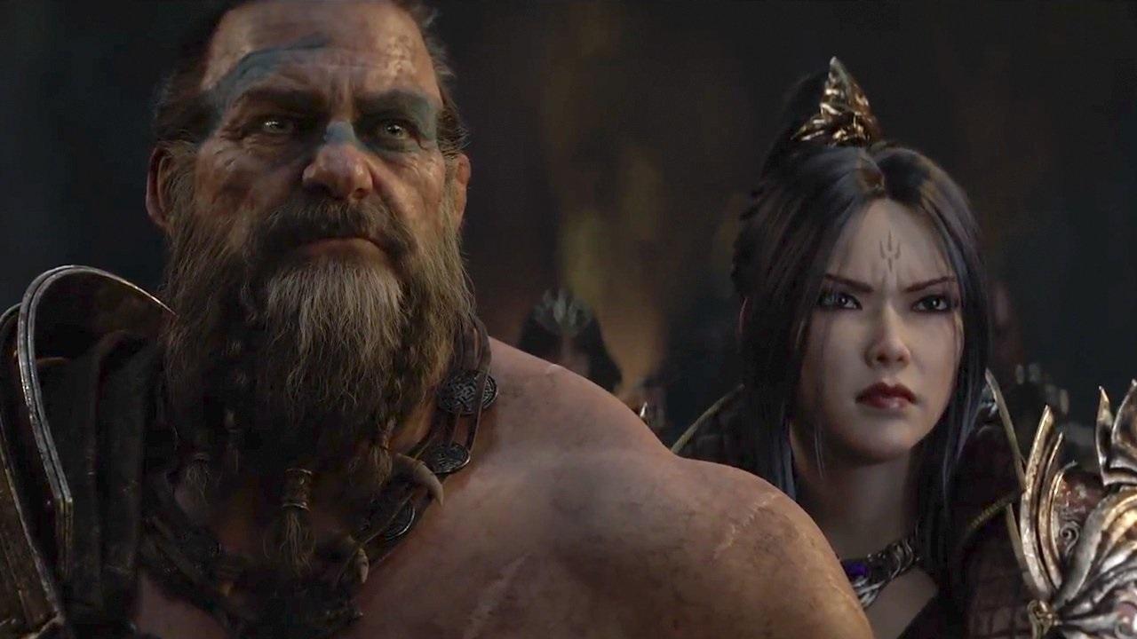 Diablo Immortal; screenshot: Barbar, Čarodějka