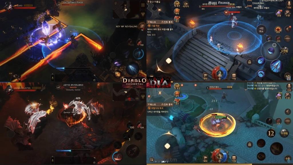 Diablo Immortal; screenshot: porovnání s Last Bless