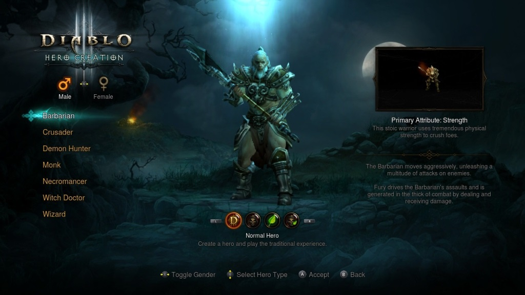 Diablo 3: Eternal Collection; gameplay; Barbar
