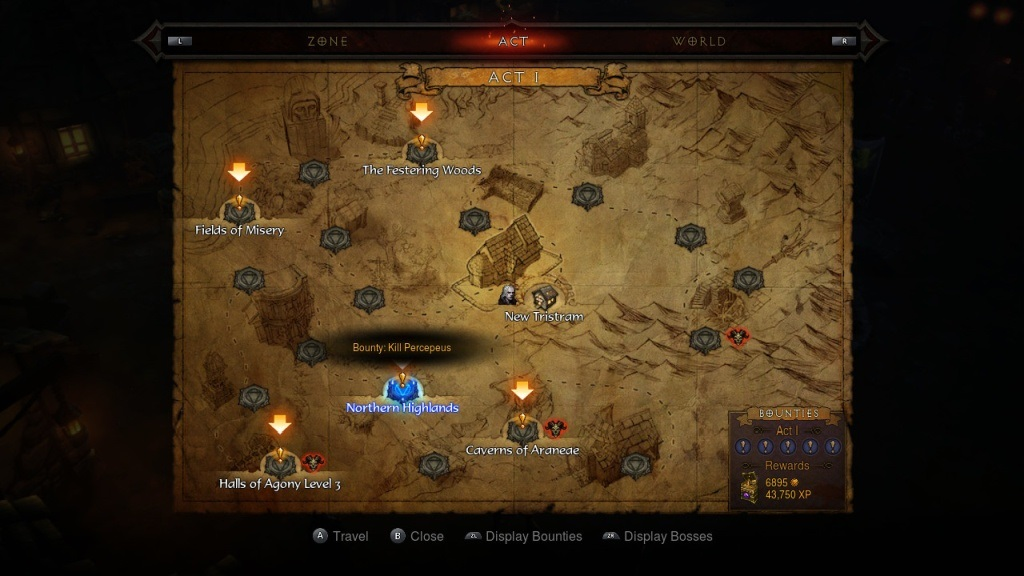 Diablo 3: Eternal Collection; gameplay; bounty
