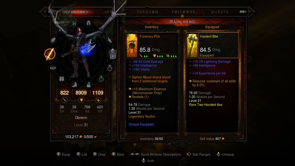 Diablo 3: Eternal Collection; gameplay; loot