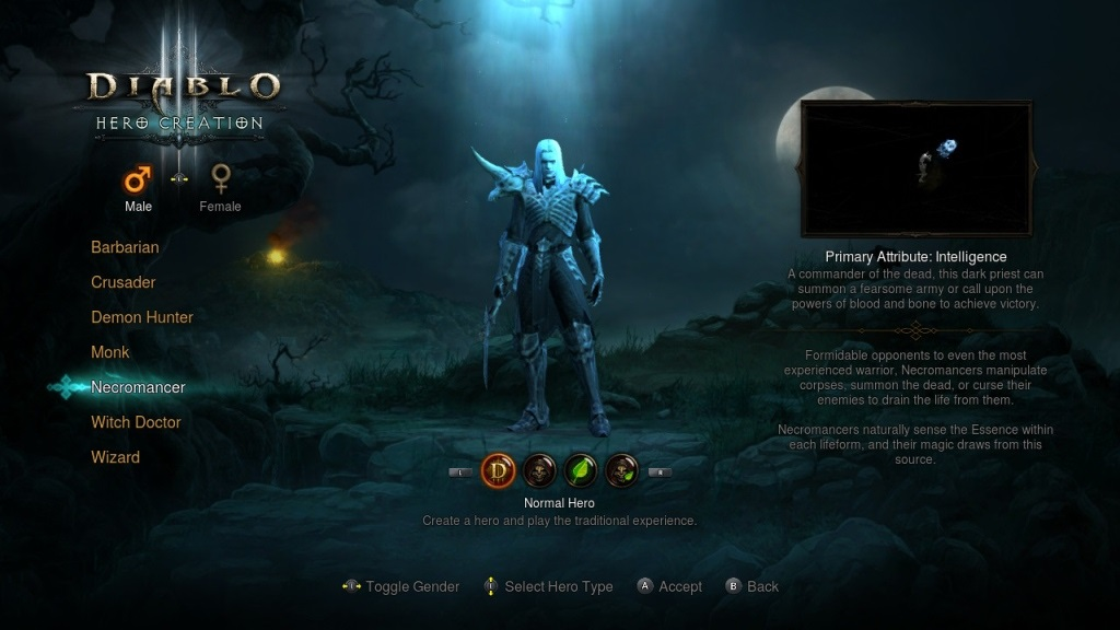 Diablo 3: Eternal Collection; gameplay; Necromancer