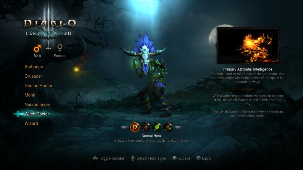 Diablo 3: Eternal Collection; gameplay; Witch Doctor
