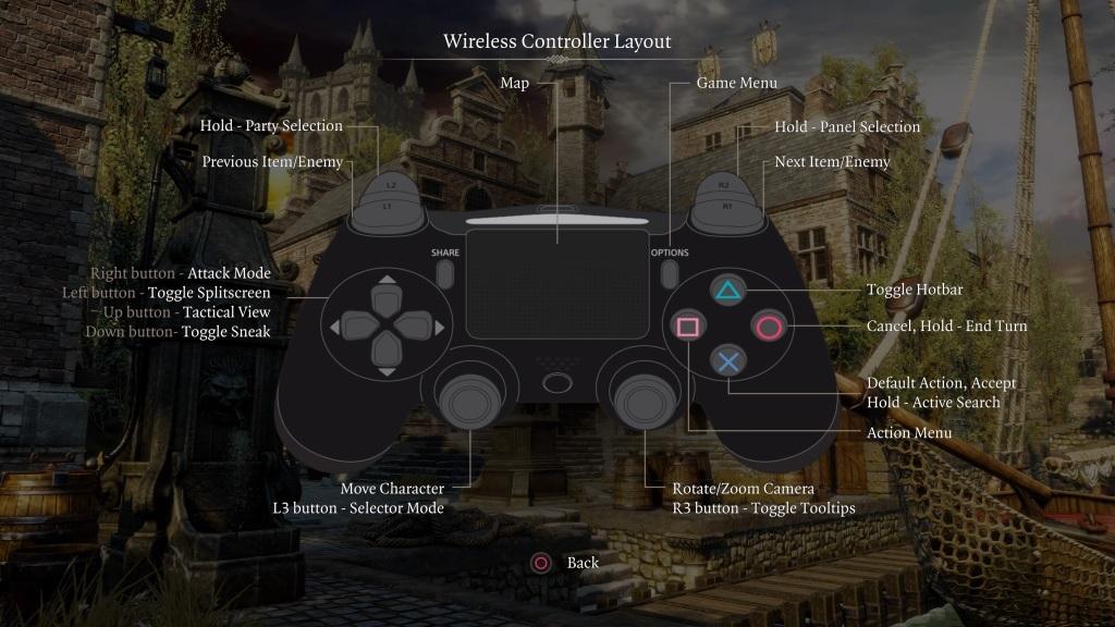 Divinity: Original Sin 2 Definitive Edition; gameplay: ovládání