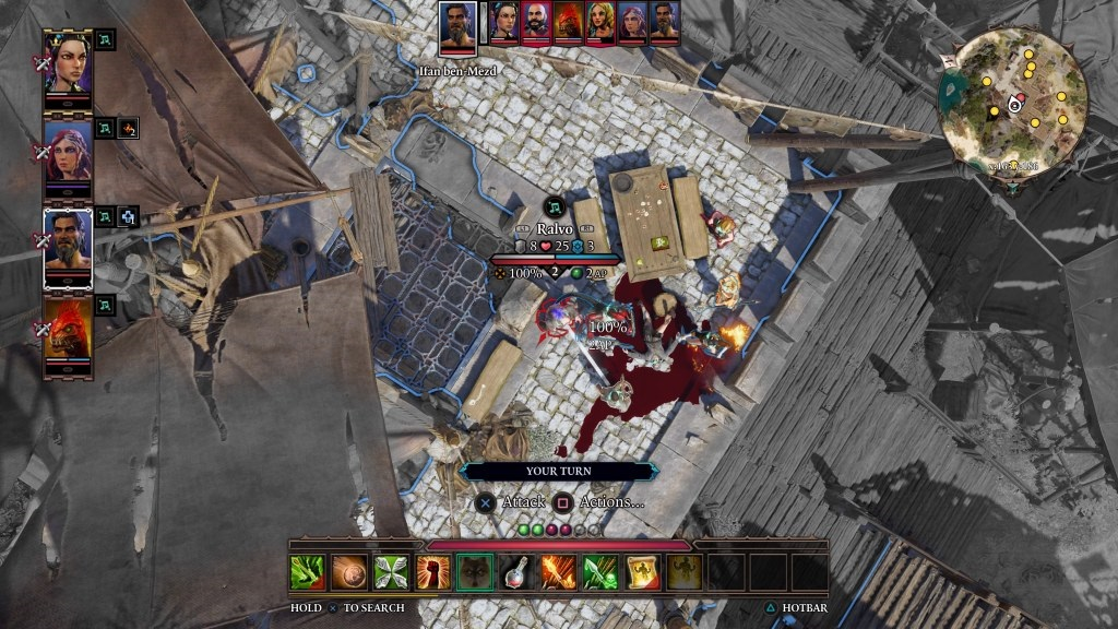 Divinity: Original Sin 2 Definitive Edition; gameplay: taktický pohled