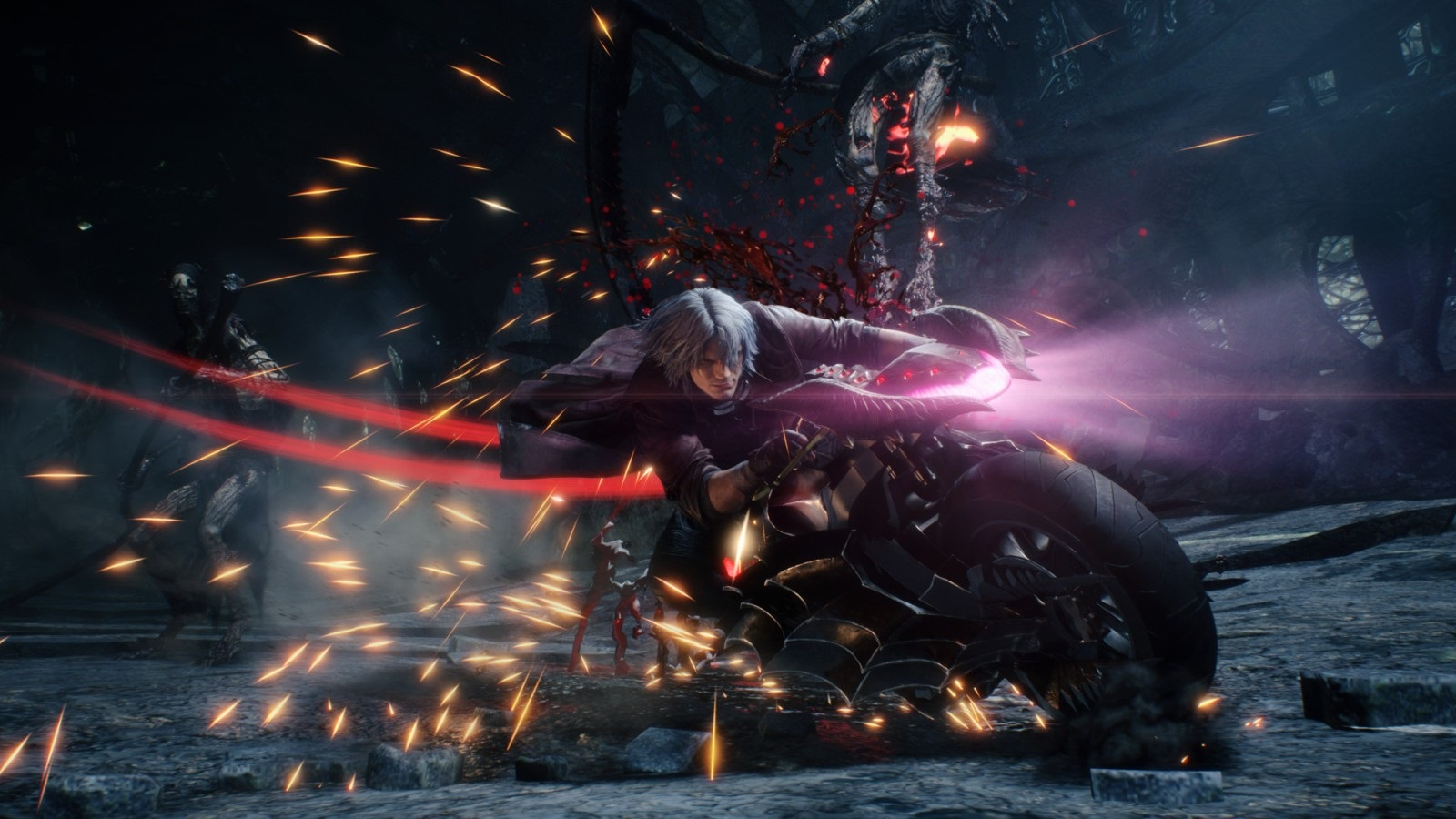 Nejočekávanější hry v roce 2019; Devil May Cry 5, screenshot: motorka