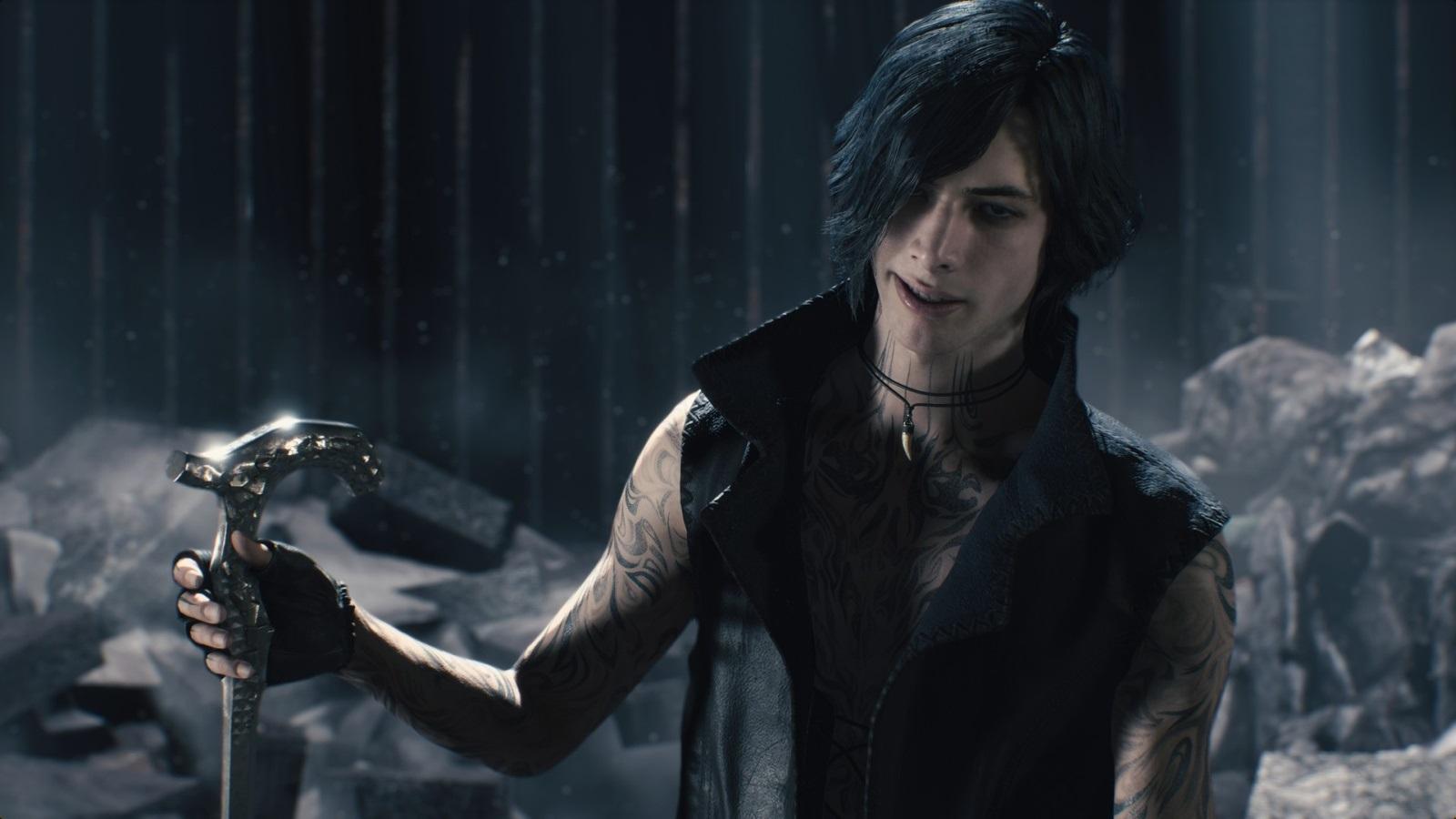 Nejočekávanější hry v roce 2019; Devil May Cry 5, screenshot: V