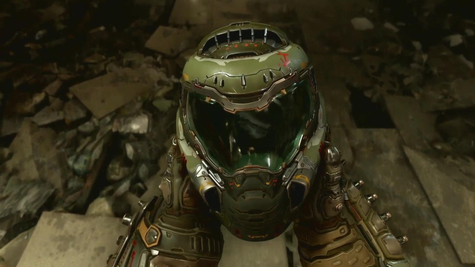 Nejočekávanější hry v roce 2019; Doom Eternal, screenshot: helma