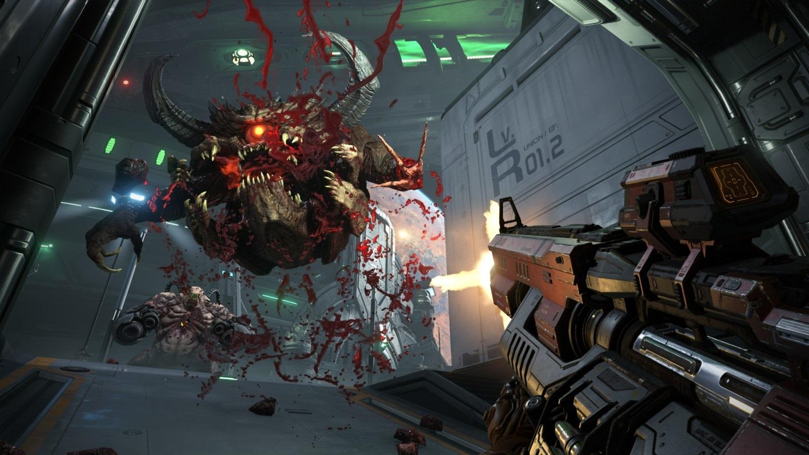 Nejočekávanější hry v roce 2019; Doom Eternal, screenshot: masakr