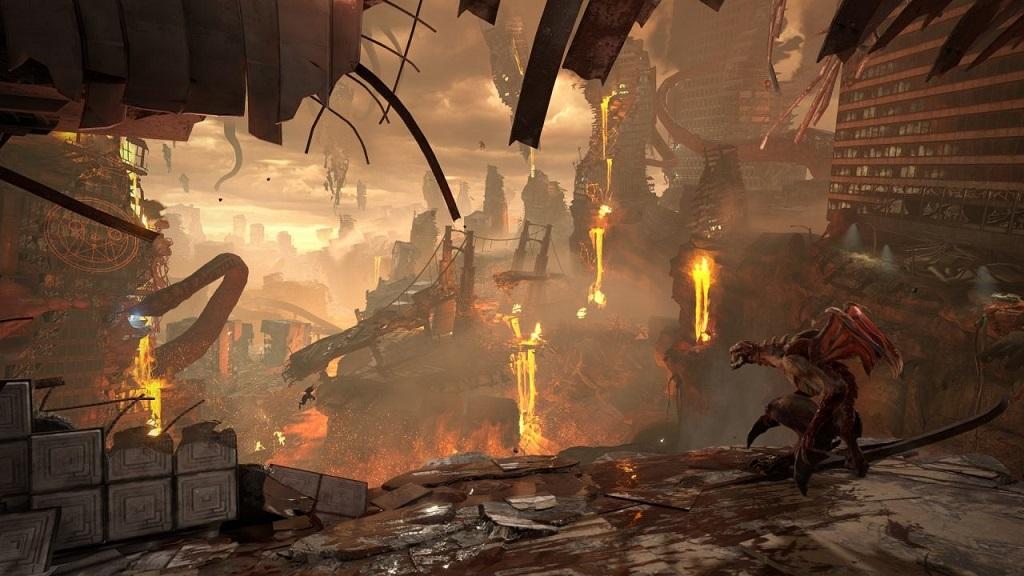 Doom Eternal; gameplay, město