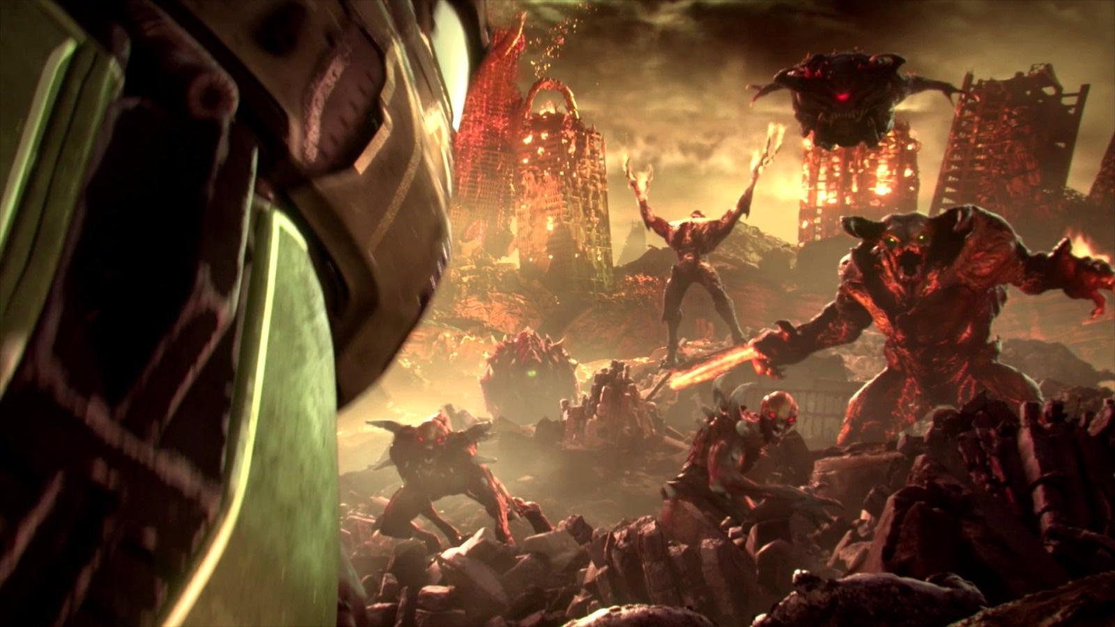 Nejočekávanější hry v roce 2019; Doom Eternal, screenshot: peklo