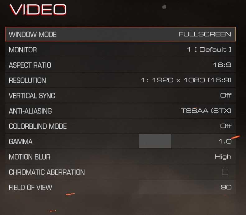 Doom nastavení videa