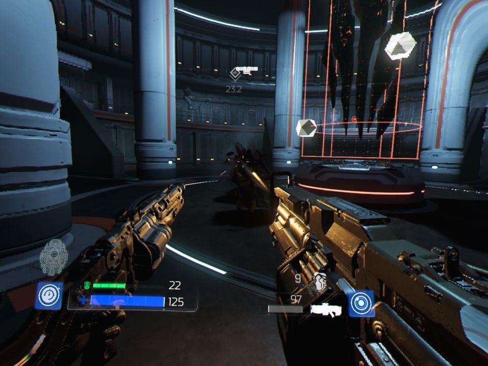 Doom VFR; Gameplay: kulomet, granátomet, střelba